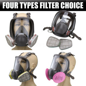 Emergency Survival Safety Respiratory Dust Gas Mask 2x Particulate Cotton Filter