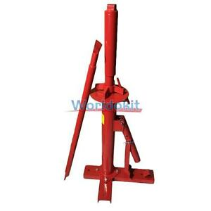 Manual Portable Hand Tire Changer Bead Breaker Tool Auto Tire Tool Red