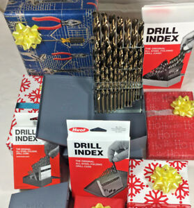 Gift Idea 29 Pc Cobalt Jobber Drill Bit Set 1 16 To 1 2 By 64s huot Case split
