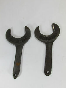 Antique Jones Orth Large Sawmill Wrench Old Industrial Mill Tool Lot Of 2
