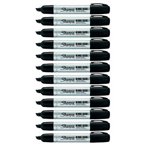 Sharpie King Size Markers Black 12 case