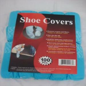 Disposable Polypropylene Shoe Covers L 100 pack Dsc100 Blue Galaxy Products