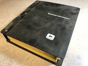Original John Deere 8430 Tractor Dealer Parts Catalog In Technical Info Binder
