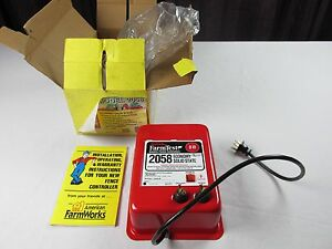 Farmtest Electric Fence Controller Model 2058 10 Mile Fence 115v Fuseless Nos
