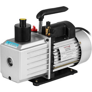 8cfm Two stage Rotary Vane Vacuum Pump 15micron 1hp Oil Reservoir Professional