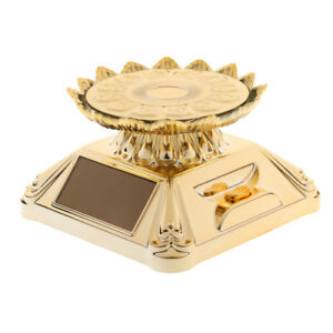 Gold Lotus Rotating Display Stand For Display Jewelry Watch Digital Product