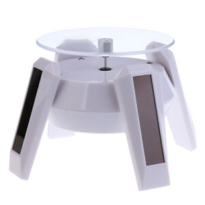 White Rotating Display Turntable For Display Jewelry Watch Digital Product