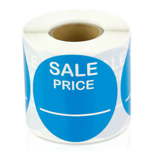 Sale Price 2 Light Blue Pricing Retail Store Stickers Tags Stickers 10 Rolls