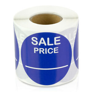 Sale Price 2 Round Blue Pricing Retail Store Stickers Tags Stickers 10 Rolls