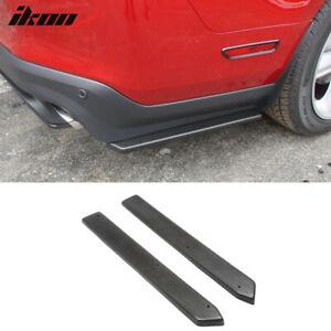 Fits 10 14 Mustang Rear Bumper Side Canards Splitters Extensions 2 Piece Valance