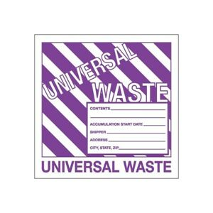 thornton s Labels universal Waste 6 X 6 Purple white 500 roll