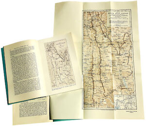 1923 Gregory Tibet Yunnan Mountain Expedition With Large Color Map 03 09