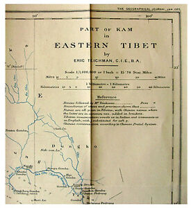 1922 Teichman Eastern Tibet Expedition With Large Map Pre Dates Book 01