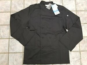 New Chef Works Calgary Chef Coat Jacket Black Men s Size Small Jlls Nwt Vented