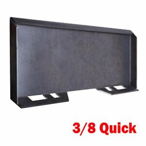 3 8 Thick Quick Tach Attachment Mount Plate Skid Steer Loader Heavy Duty 112lb