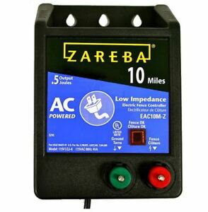 Zareba Eac10m z Ac Low Impedance Fence Charger 10 Mile