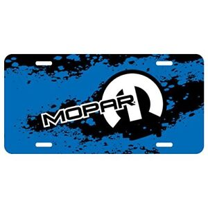 Mopar Motor Sports Blue Graphic Aluminum License Plate