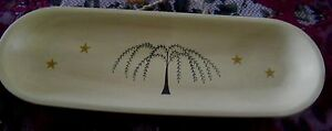 Willow Tree Country Primitive Kitchen Platter Serving Tray Wall Decor 16x5 Sign