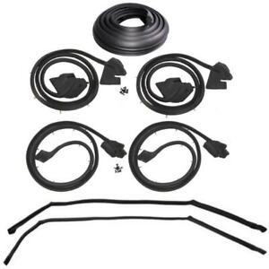 1969 1970 Buick Cadillac Oldsmobile 4dr Hardtop Weatherstrip Seal Kit New