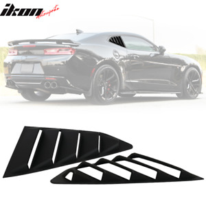 Fits 16 18 Chevy Camaro Gt Style Quarter Window Louvers