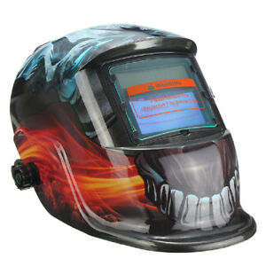 Auto Darkening Solar Welding Helmet Mask Uv ir Filter Shade Devil Pattern E