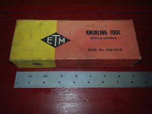 New Etm 1 1 8 Knurling Tool No Kh 1015 Sothbend Logan Sheldon Clausing Lathe