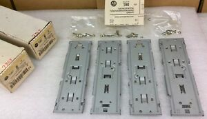 Allen Bradley 190 n1 Din Rail Plate For Clip on Fitting set Of 4 New In Box
