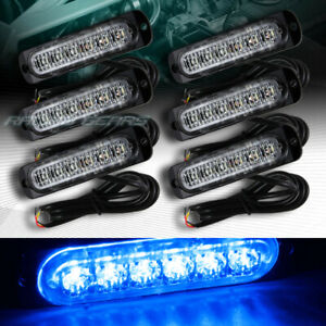 36 Led Blue Car Emergency Beacon Hazard Warning Flash Strobe Light Bar Universal