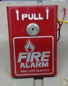 Fire lite Bg 8 Manual Pull Station Single action Alum Alarm Panel Control New