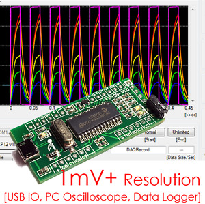 Icp12b 1mv 6 Ch Pc Analog Usb Oscilloscope Unlimited Logger Io Daq Pwm Adc