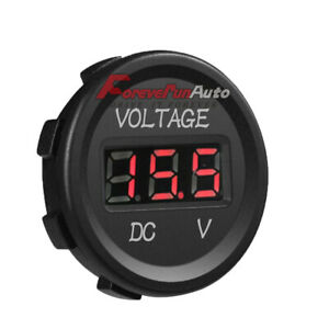 Dc 12v Voltmeter Led Digital Display Voltage Waterproof For Boat Car