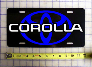 Toyota Corolla Custom License Plate Car Tag