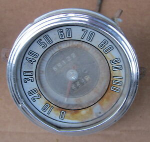1946 Monarch Mercury Ford Speedometer Instrument Cluster 100 Mph Used Orig 46 47