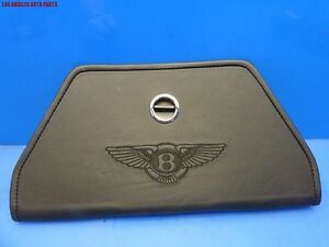 Bentley Continental Gt Road Side Reflective Warning Triangle Leather Holder Oem