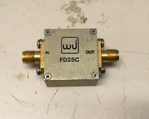 Watkins Johnson Fd25c Sma Rf Frequency Doubler In 5 2400mhz Out 10 4800mhz