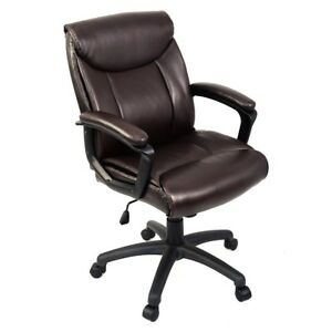 Room Office Ergonomic Pu Leather Mid back Executive Computer Desk Task Chair