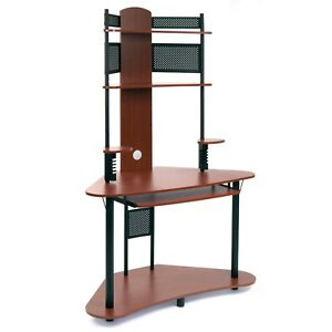 Studio Designs Home Office Furniture Arch Tower Computer Desk Black And Cherry