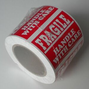 5 Roll 500 Stickers Please Handle With Care Fragile Size 3 X 5 Inches L001a