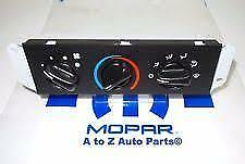 New 2005 2006 Jeep Wrangler Tj Heater Non a c Temperature Control Unit oem Mopar