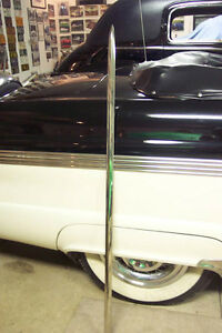1955 Ford Customline Nos Correct Front Fender Side Molding 55 New Old Stock