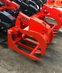 2018 Mtl X series 80 Root Grapple Bucket Skid Steer Bobcat kubota free Ship