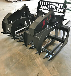 2018 Mtl X series 72 Root Grapple Bucket Skid Steer Cat takeuchi Free Ship