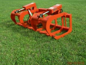 2019 Mtl Attachments Hd 72 Skid Steer Root Grapple Twin Cylinder universal Fit