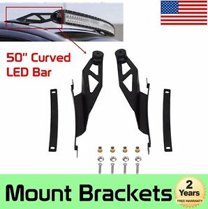 50 Inch Curved Led Light Bar Roof Mounting Bracket Fit For 2007 14 Toyota Tundra
