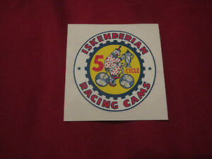 Iskenderian Racing Cams Camshafts 5 Cycle Clown Logo Decal Sticker 2 New