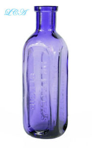 Small Early Hand Blown Dr Peter S Oleoid Quack Purple Patent Medicine Bottle