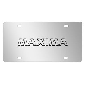 Nissan Maxima 3d Nameplate Chrome Stainless Steel License Plate