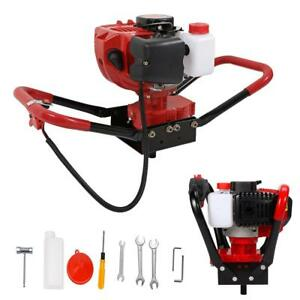 One Man 52cc Gas Powered 2 3hp Post Hole Digger Earth Soil Power Engine Machine