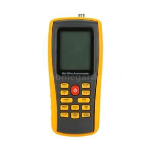 Hot Wire Digital Anemometer Wind Speed Meter Temperature Tester Measuring O4b4