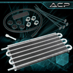 15x7 5x0 75 High Performance Universal Power Steering Tranny Oil Cooler Silver